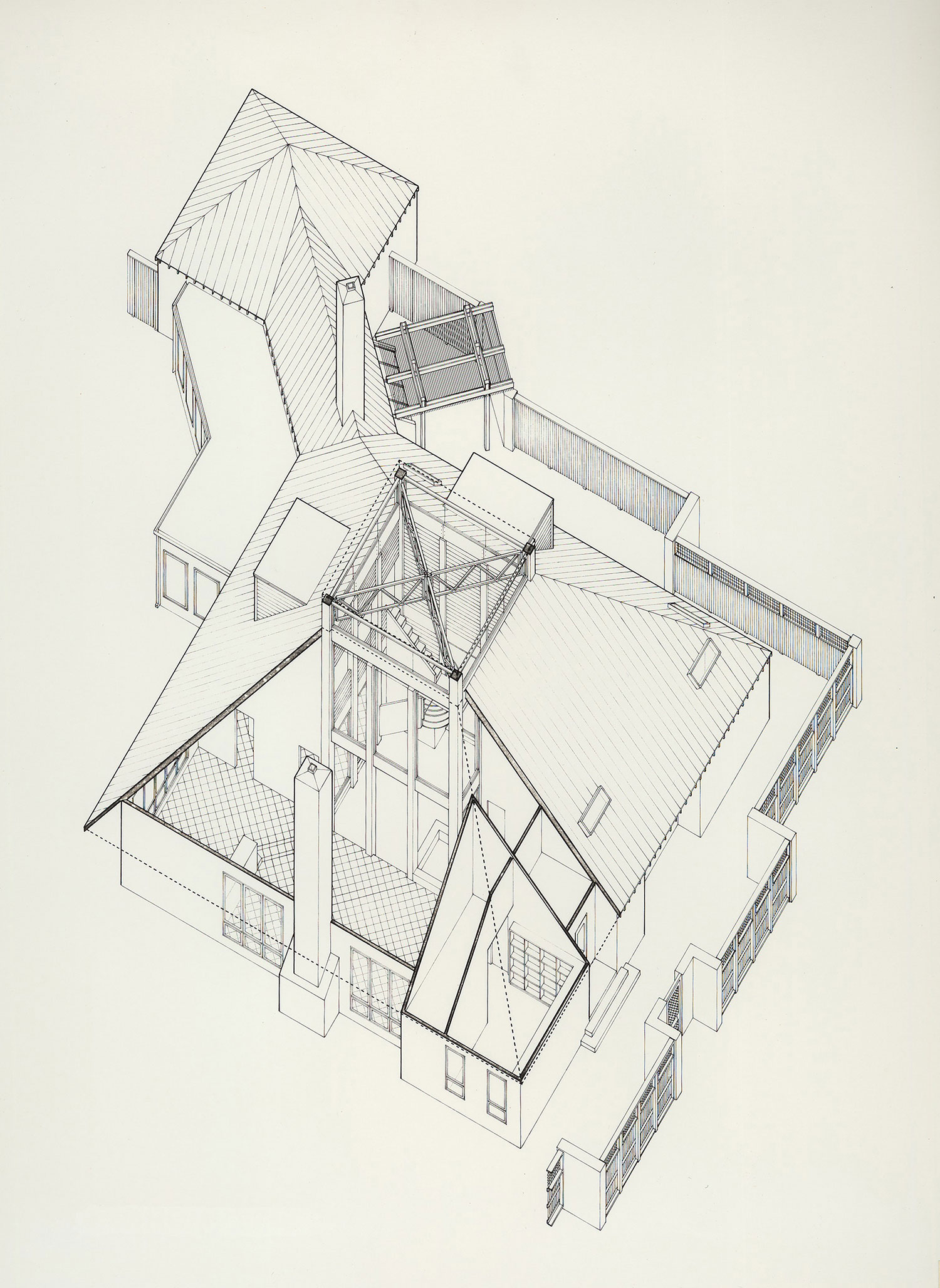 ARCHITECTURAL INTERNSHIP 2004 - 2007  Frank Welch & Associates – Dallas, Texas    Suburban Home – Midland, Texas  Axonometric Technical Pen Drawing