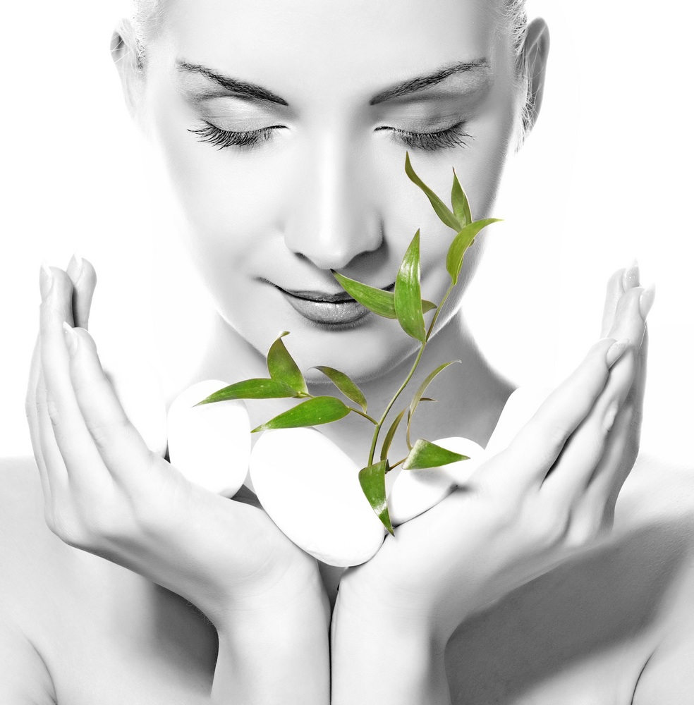 Black-white-woman-with-Green-Plant-1.jpg