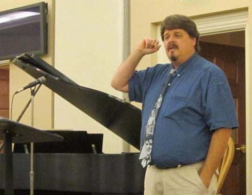 Bert speaking at Wilshire Baptist Church, Dallas, TX (June 2012)