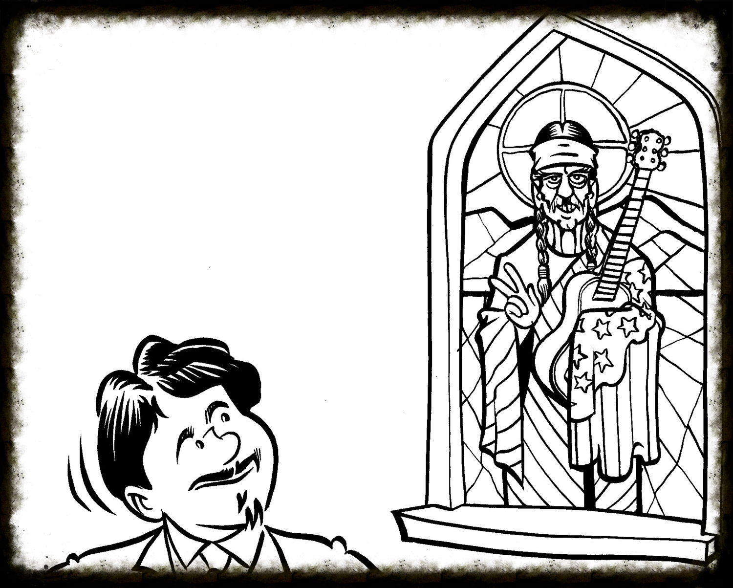 """Bert and """"St. Willie"""" - by GREG CRAVENS"""