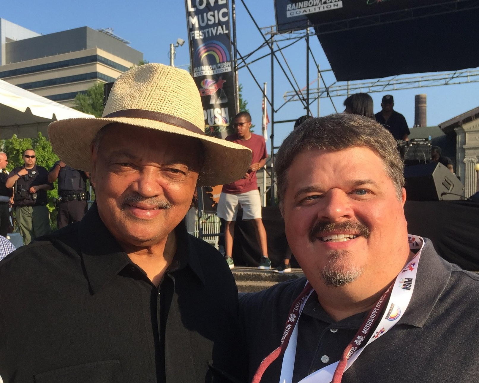 with Rev. Jesse Jackson at the 2019 Rainbow PUSH Convention, Chicago