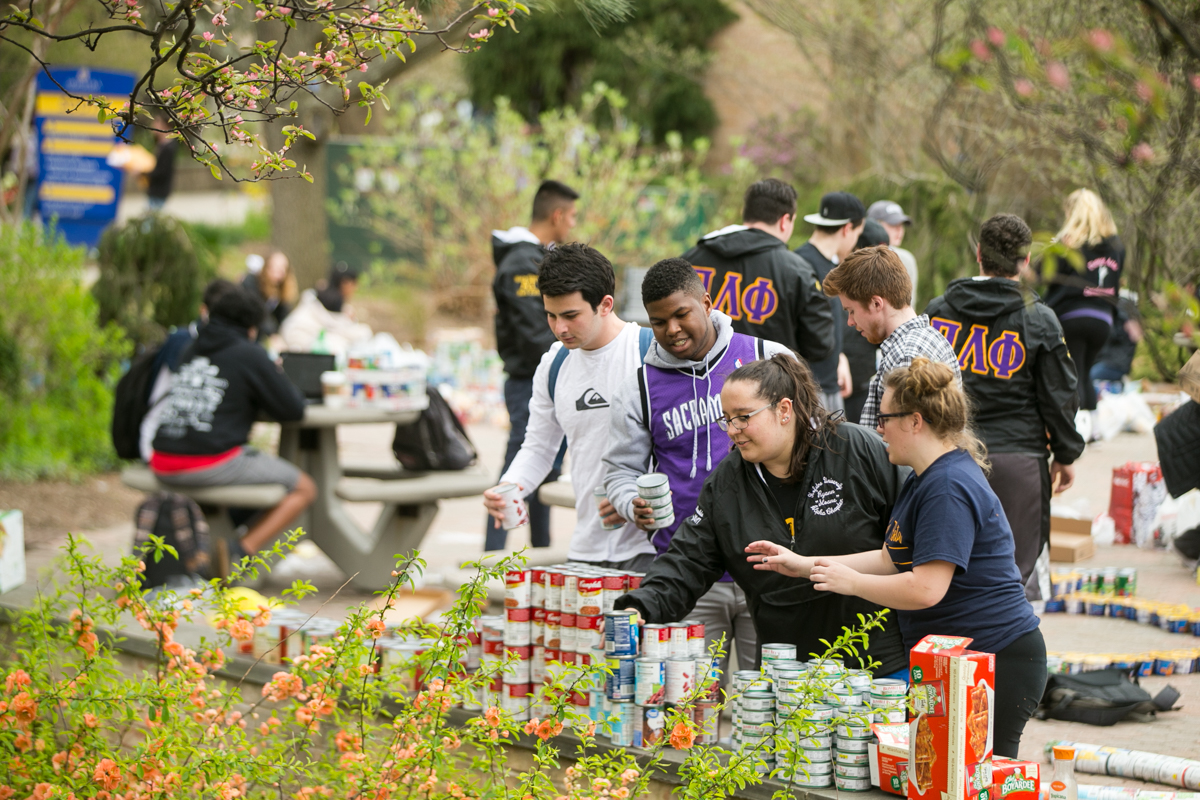 Students collected and organized thousands of canned food goods for  Long Island Harvest  the largest hunger relief organization on Long Island.