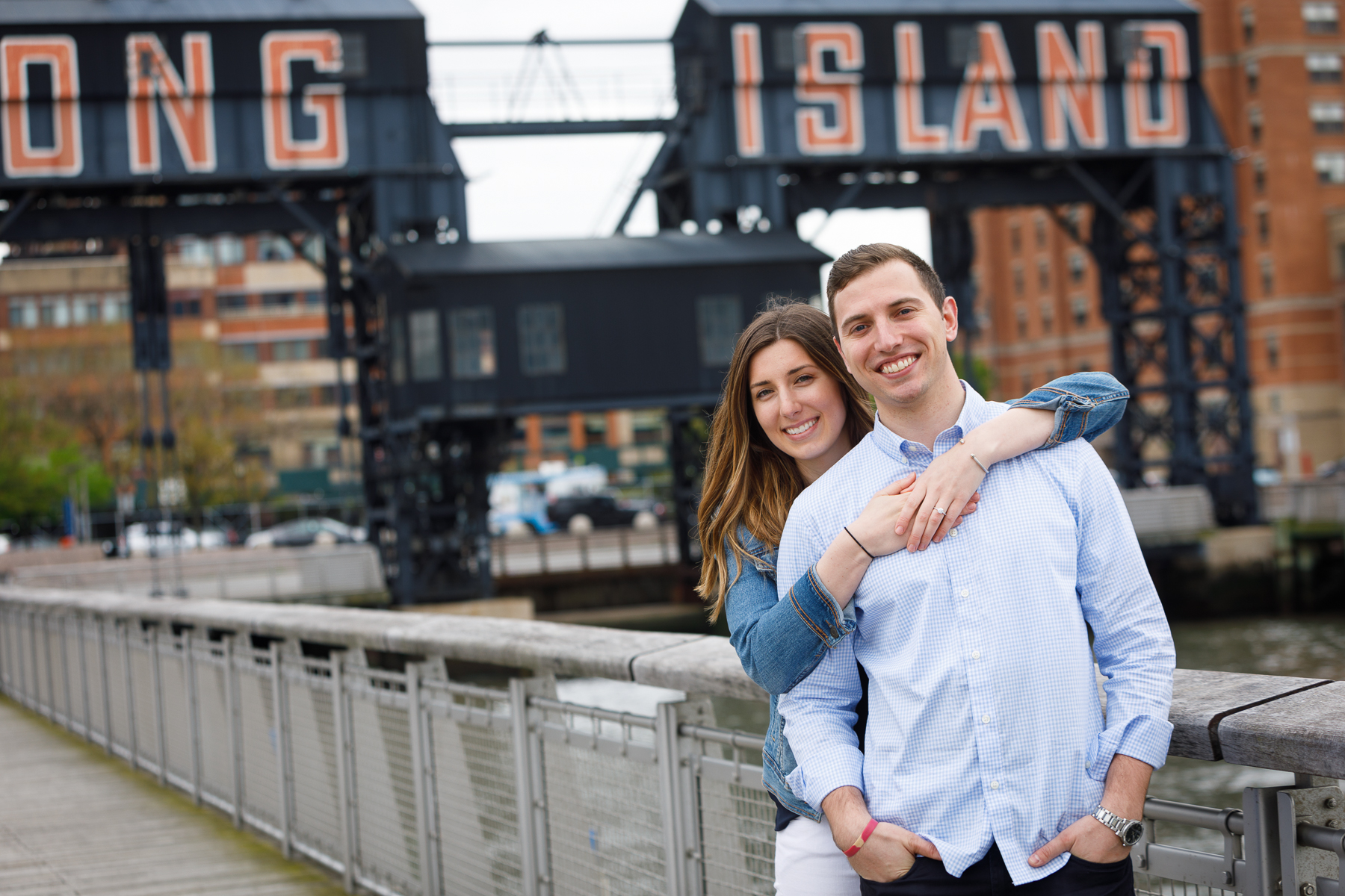 Gantry Plaza Long Island City - NYC marriage proposal