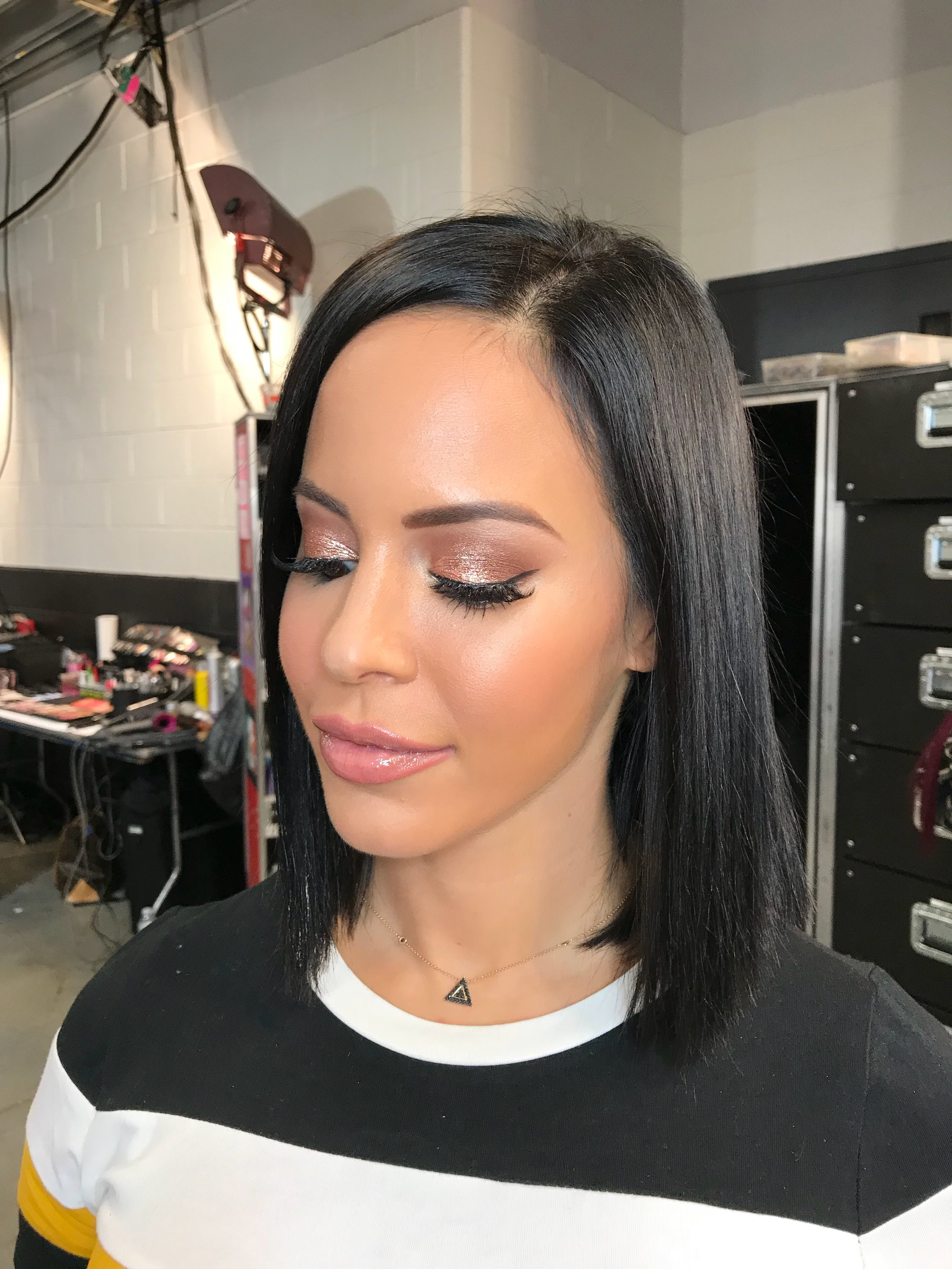 Charly Caruso WWE  (Hair and Makeup)