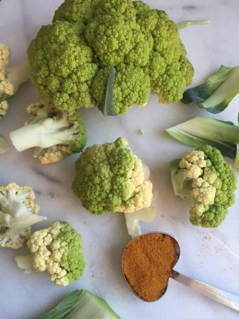 Curried Cauliflower Pickles in progress.
