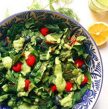 Beauty Boosting Salad with Avocado Dressing