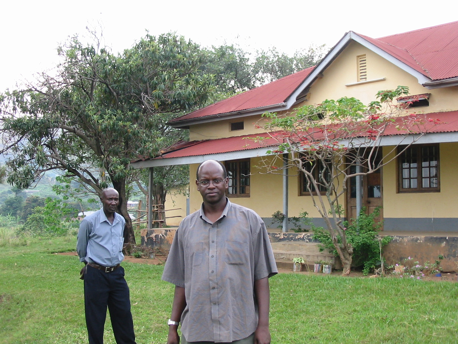 Duncan Laki outside the chief's house in Ibanda (Andrew Rice)