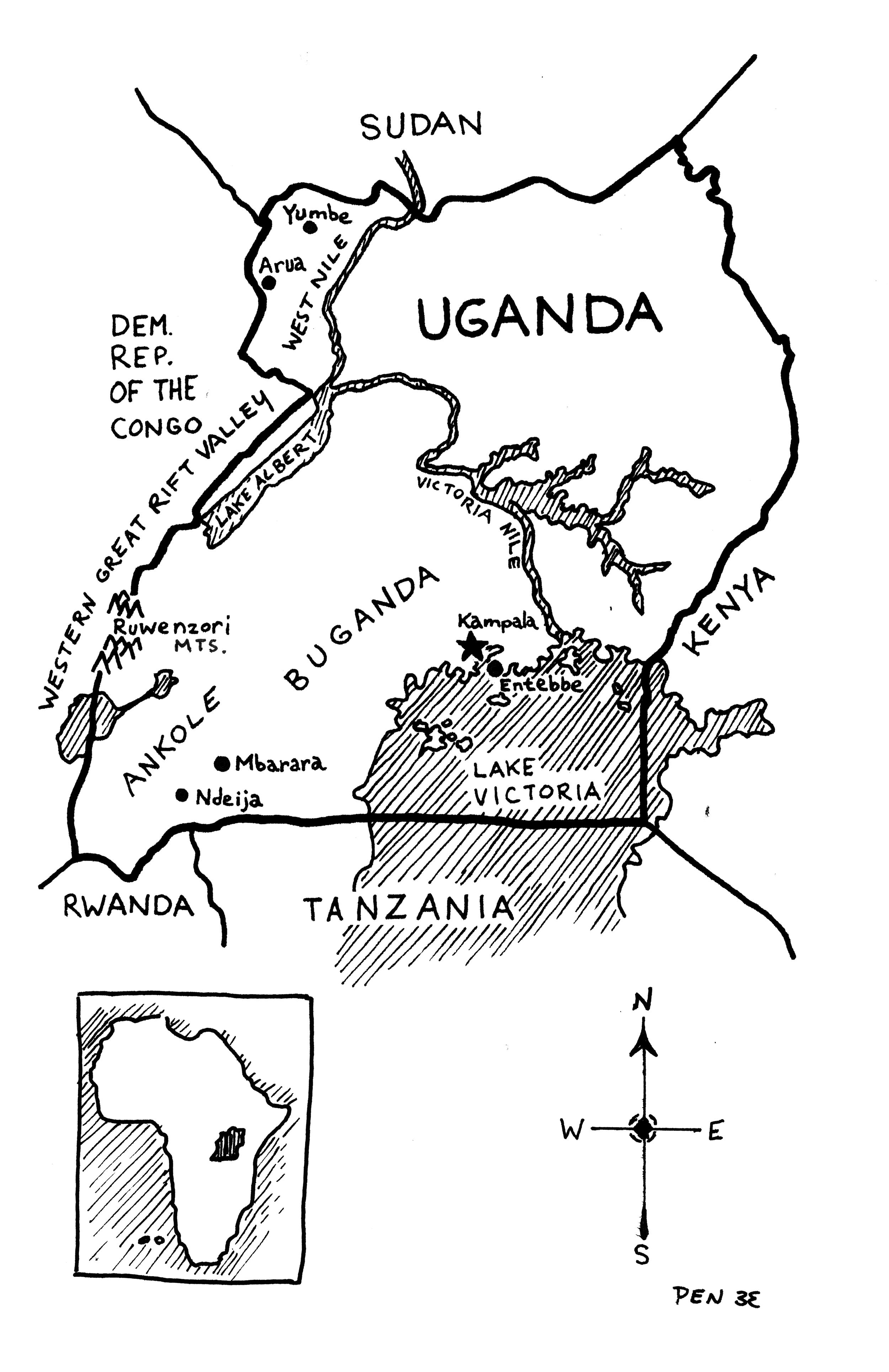 A map of Uganda (Phillip Niemeyer)