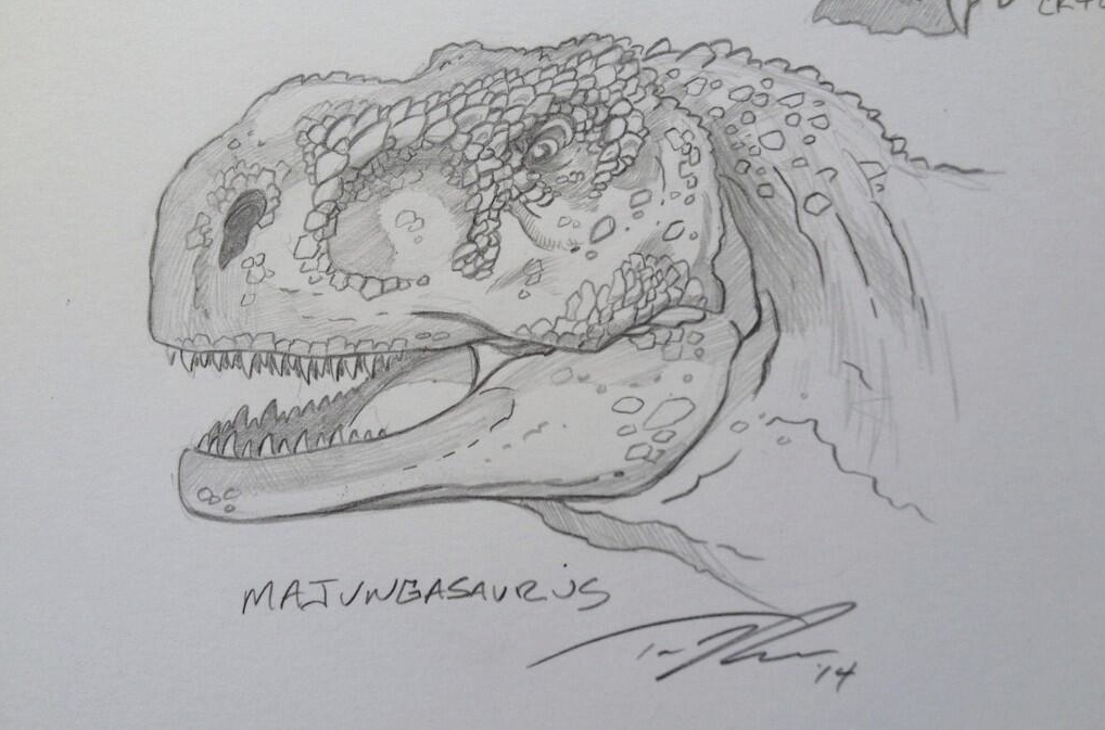 The big predator from the southern hemisphere, Majungasaurus.