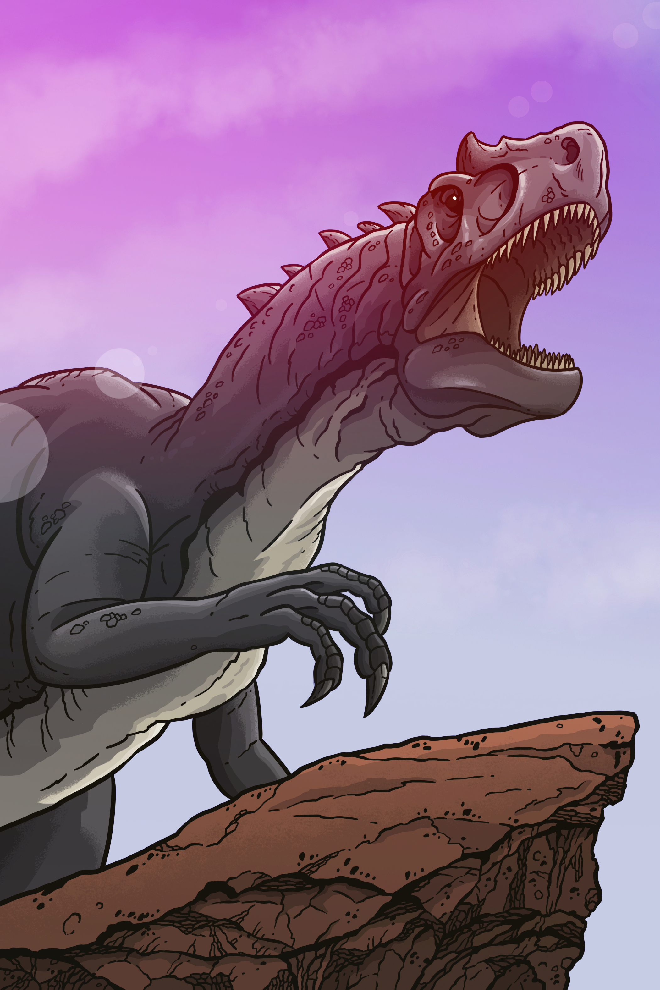 "Another new illustration debut. The famous Allosaurus, ""Big Al""."