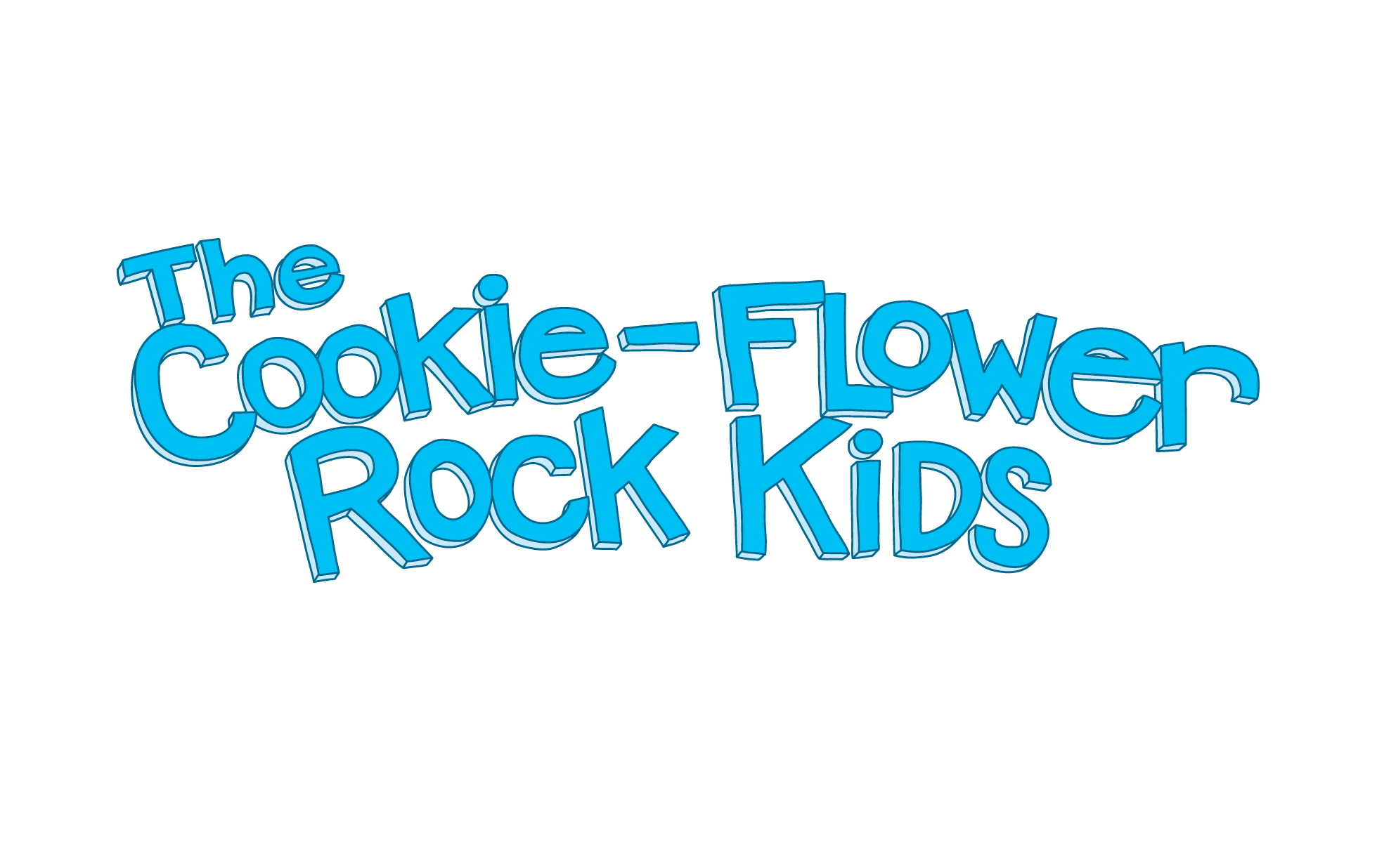 The Cookie-Flower Rock Kids Logo