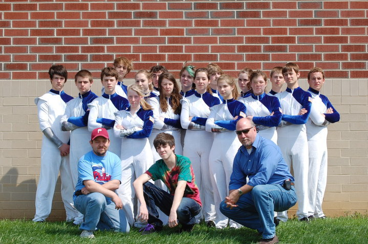 Mike with the 2010 award-winning Quakertown High School Indoor Percussion Ensemble