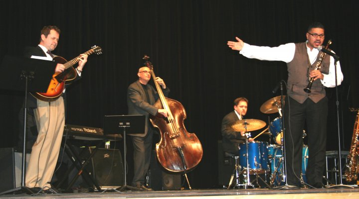 Performing at Quakertown's Got Jazz festival with Alex Bartlett on guitar, Greg Eicher on bass, and Greg Edwards on sax