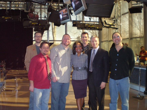 Tim Butler and the band after our performance on The 10! Show