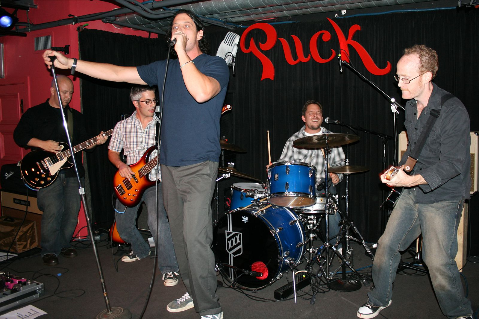 Performing with Winston's Dog at Puck in 2009