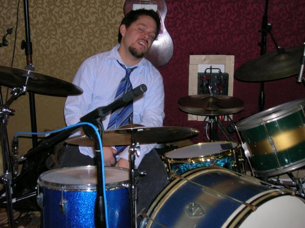 During recording sessions with Mike Pfeiffer & The Associates at Kawari Sound studio in Wyncote, PA