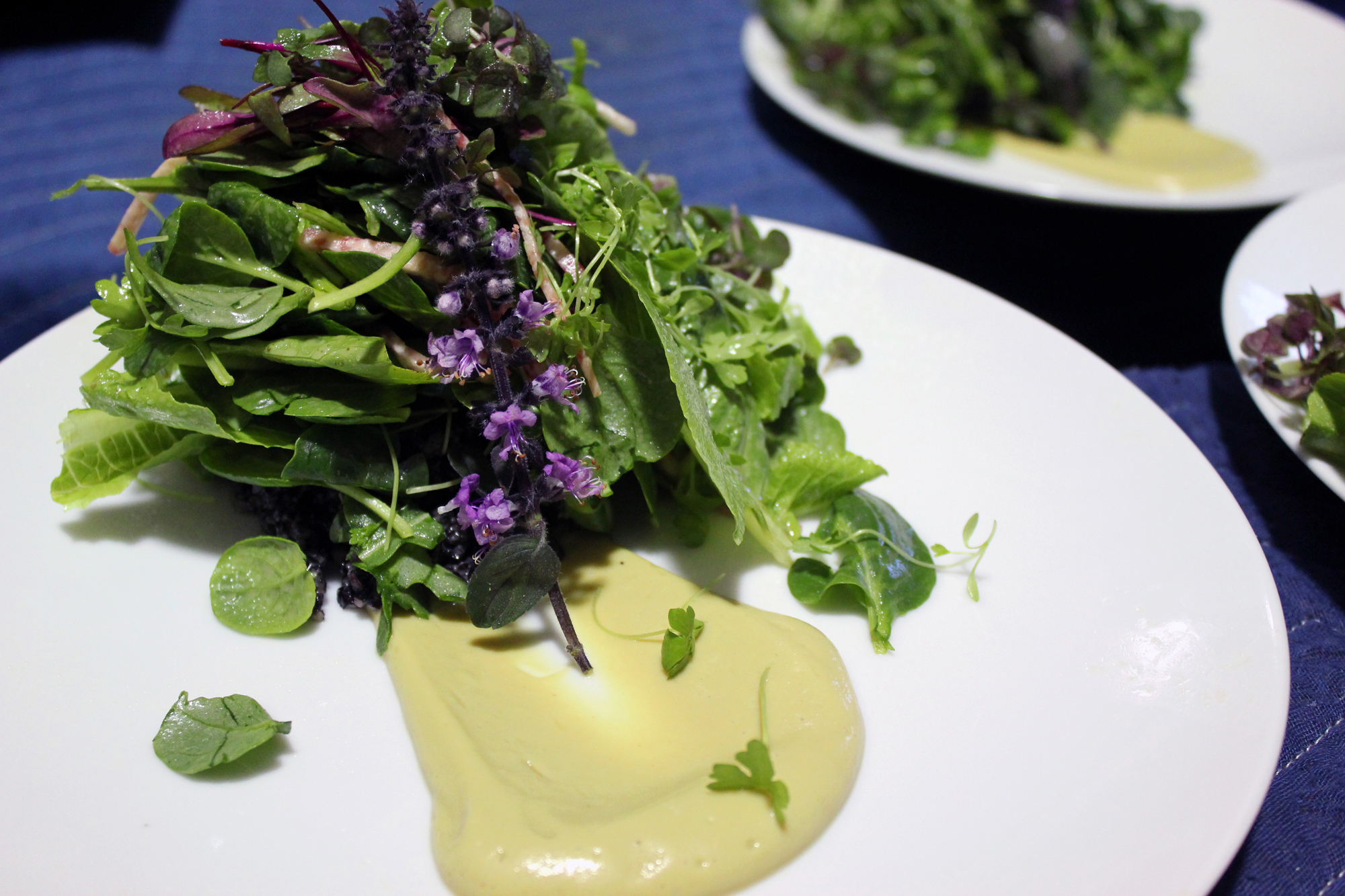 """Chef Nina Curtis presents""""Food In Bloom"""" at The Dining Room LA. Nina is a raw vegan chef and Founder and President of The Nile Institute in West Hollywood."""
