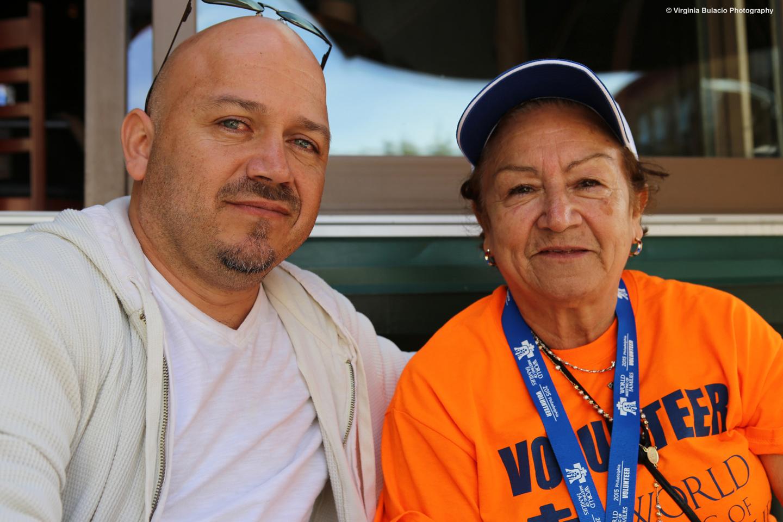 Mayra viajo desde Staten Island, Nueva York para ser voluntaria durante el Encuentro Mundial de las Familias en Filadelfia.