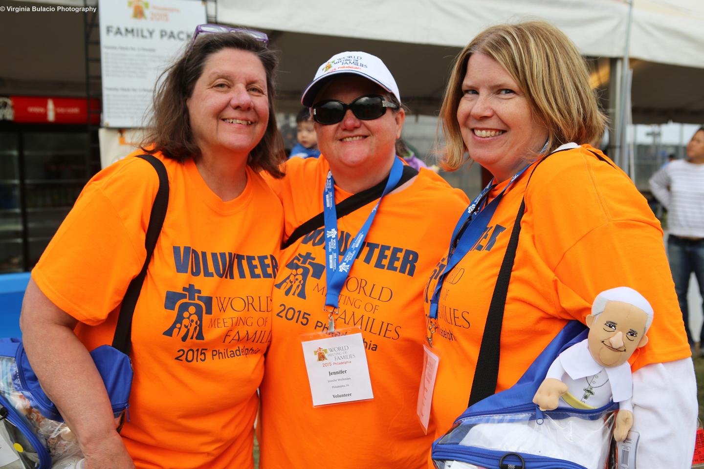 La organización del Encuentro Mundial de las Familias movilizóa miles de voluntarios para la visita del papa Francisco a Filadelfia.