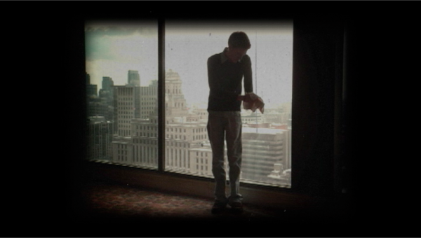Post Final Cut Pro processing; combining real film elements with the stills to give the illusion of aged Silent Era film