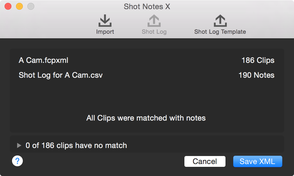 Shot Notes X couldn't be easier to use.