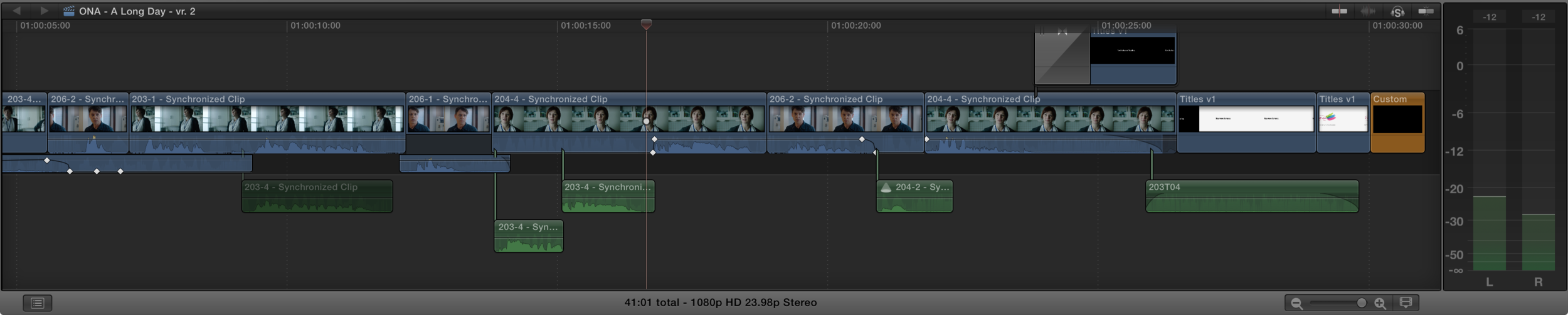 """Pulling a Fincher"": editing together multiple takes for the perfect performance"