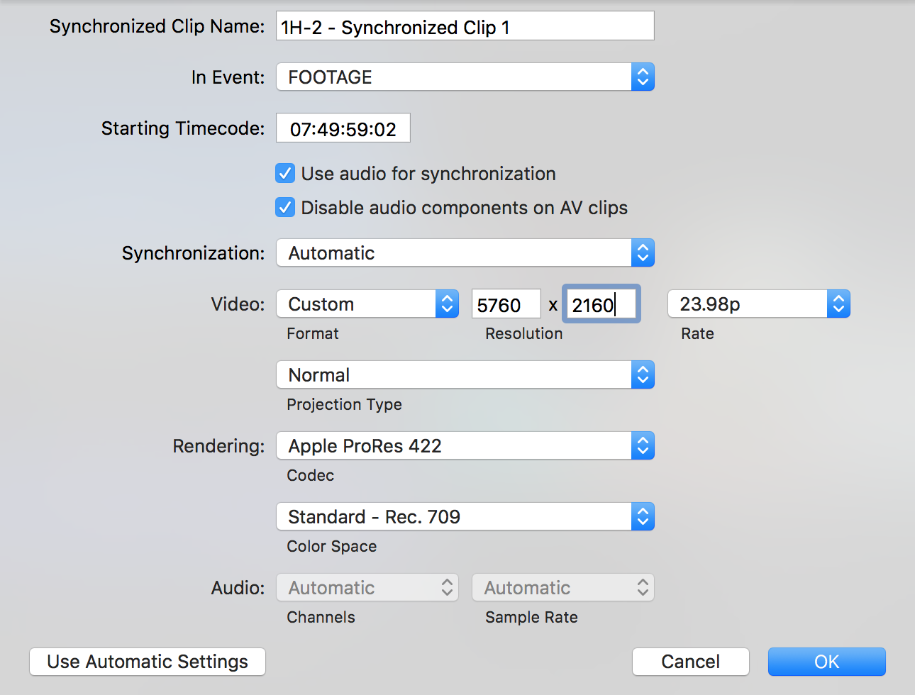 The tedious process of manually syncing, which I hope to never repeat (always jam time-code!)
