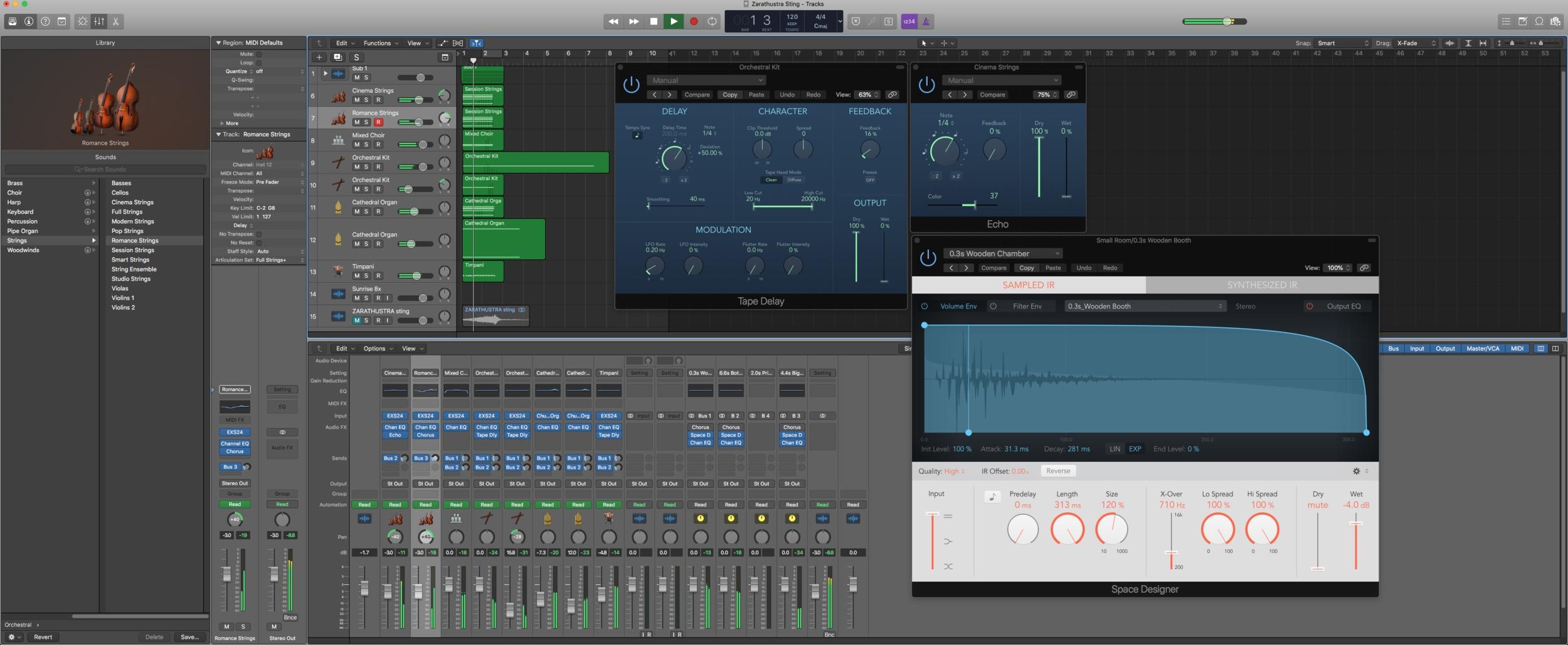 Rebuilding the iconic crescendo within Logic Pro X