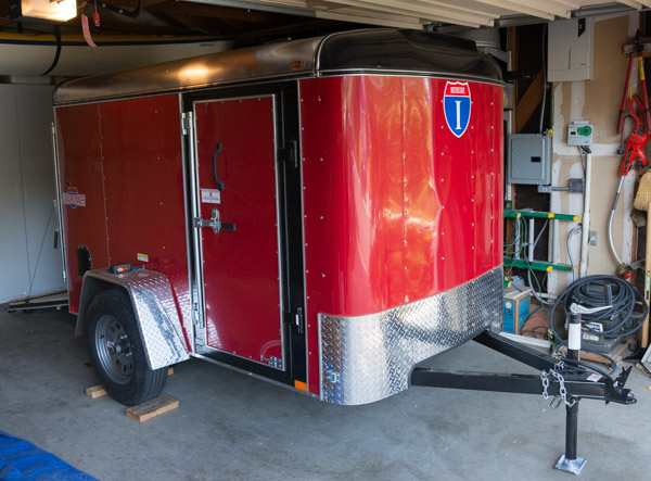 Utility trailer to haul my stuff to art shows. By Terrence Robertson-Fall