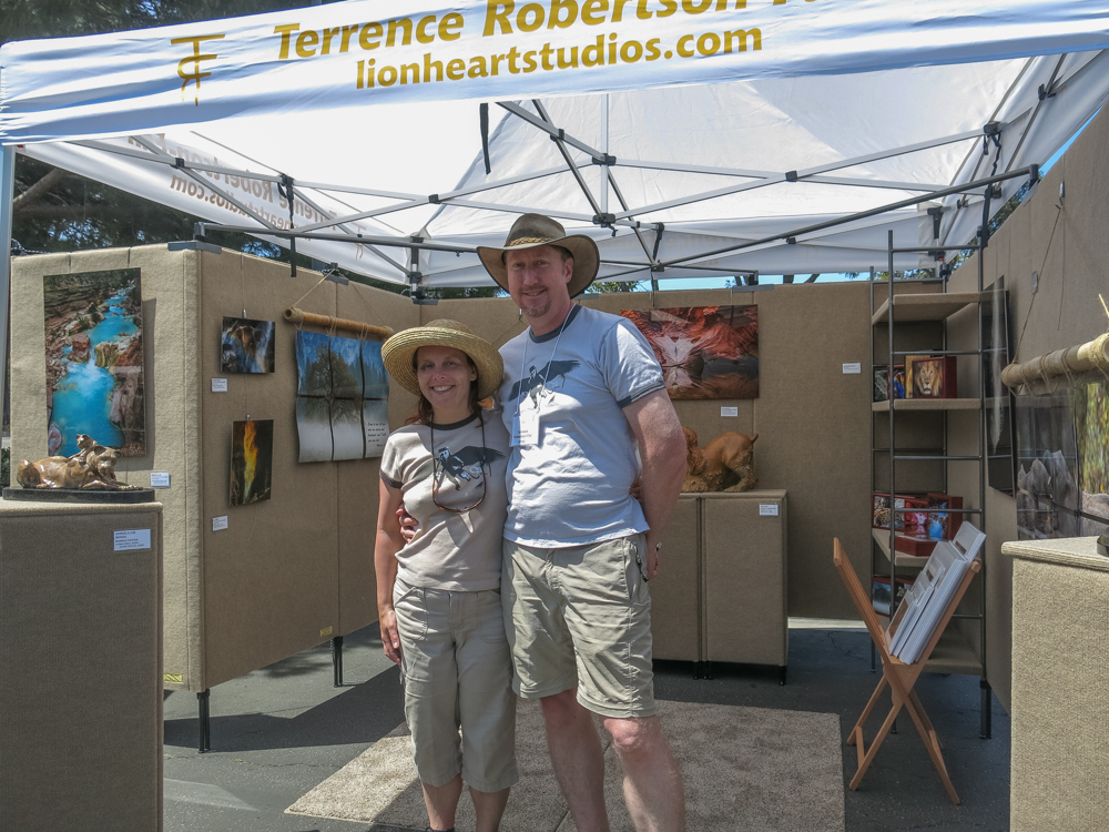 Terrence and Karen Robertson-Fall in their booth at the Thousand Oaks ArtWalk 2014