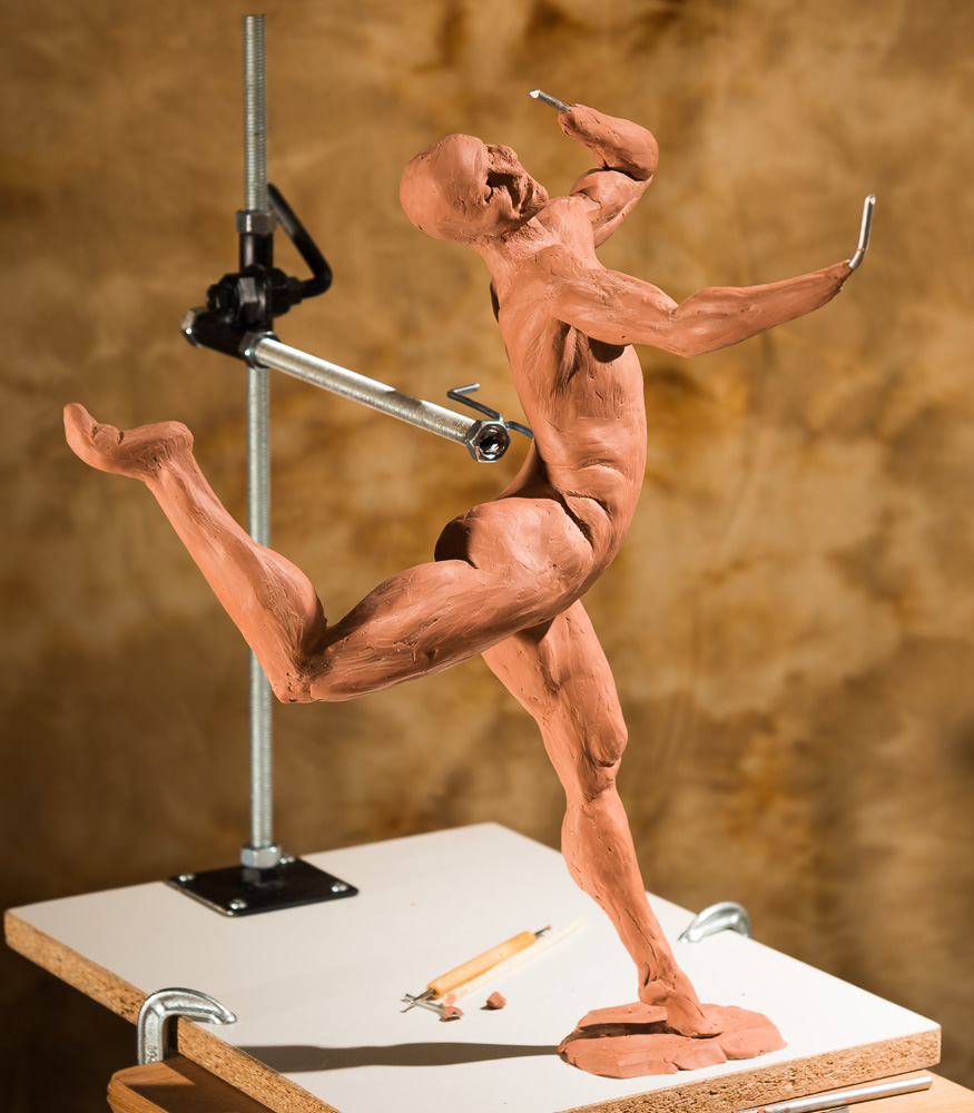 Running Free Dancer - wip bronze sculpture by Terrence Robertson-Fall