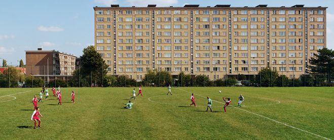 Een Antwerps voetbalveld.