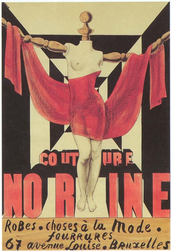 Affiche voor Couture Norine, 1926.  © Magritte Museum