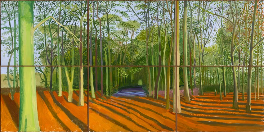 Woldgate Woods, 6 & 9 November 2006,   © David Hockney; Photo Credit: Richard Schmidt