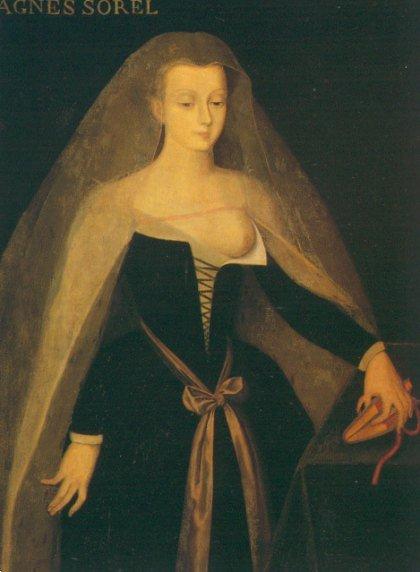 Portrait d'Agnès Sorel,  maker onbekend,Château de Loches, Frankrijk © Château de Loches