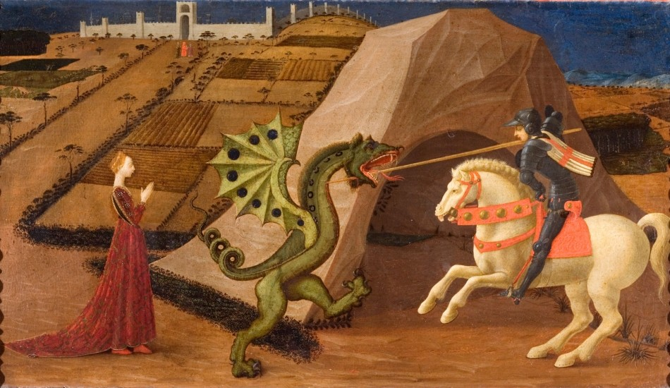 Saint Georges terrassant le dragon Paolo Uccello,(Firenze, 1397 - Firenze, 1475)