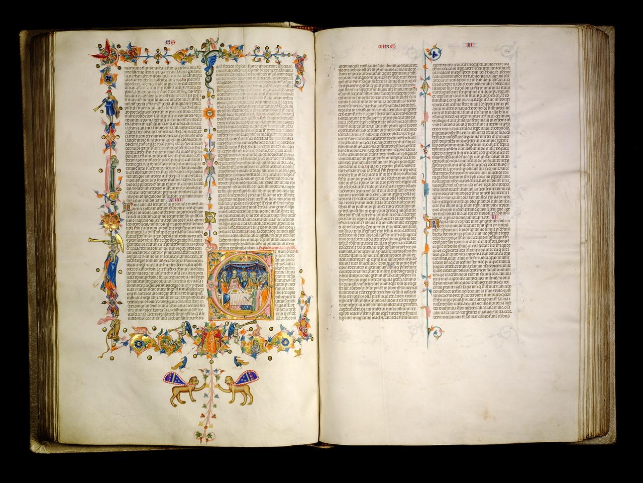 Bijbel van Anjou, handschrift op perkament, Napels (14e eeuw),Maurits Sabbebibliotheek, FTRW, KU Leuven, CollectieGrootseminarie Mechelen, Leuven, cod. 1