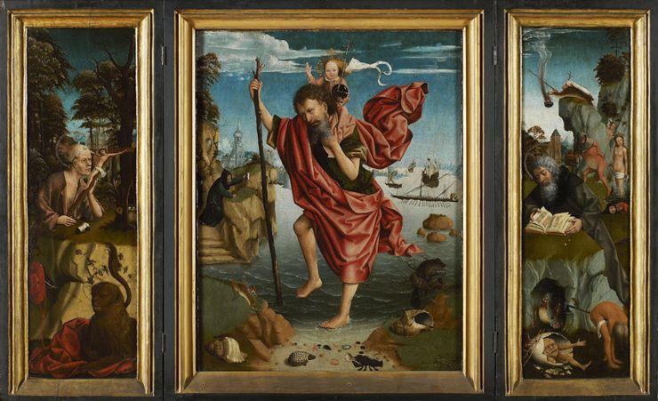 Meester van de Heiligenfiguren,  Verzoeking van Sint-Antonius , Brugge, ca. 1510-1520 (© Museum Mayer van den Bergh)