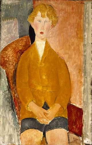 Amadeo Modigliani, Petit garçon en culotte courte (1918) © Dallas Museum of Art