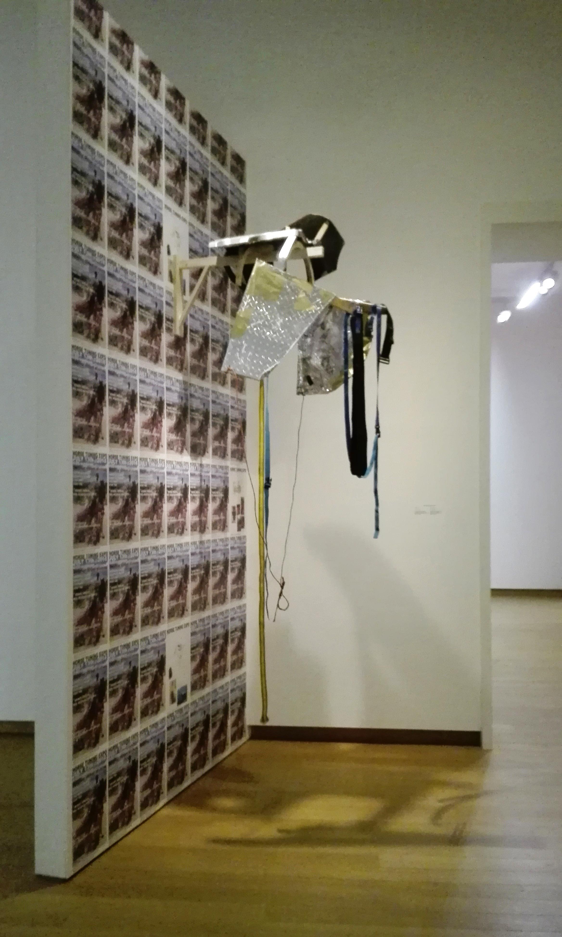 Mohamed Bourouissa,  Horseday , installatie in het Stedelijk Museum, Amsterdam