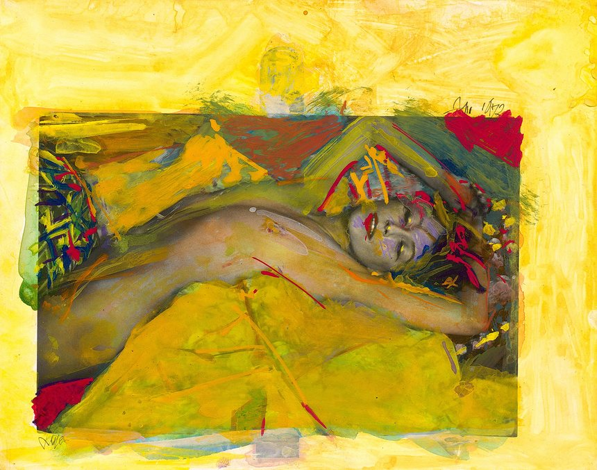 Eén van Saul Leiters 'painted nudes', ©The Estate of Saul Leiter / Sylph Editions.