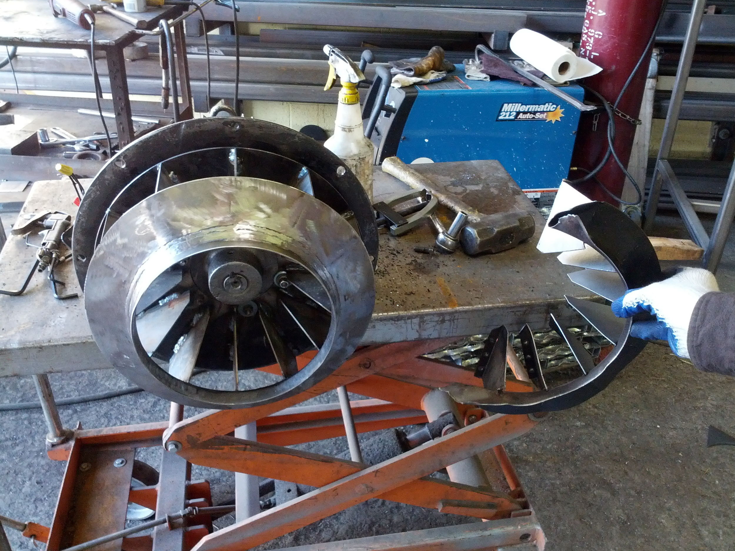 BLOWER WHEEL REPAIR