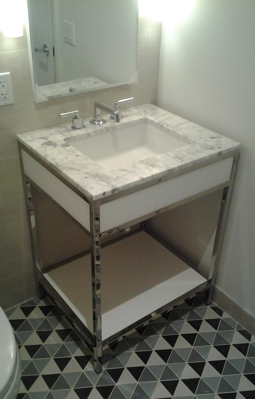 Small Bathroom Vanity - Mirror Finish