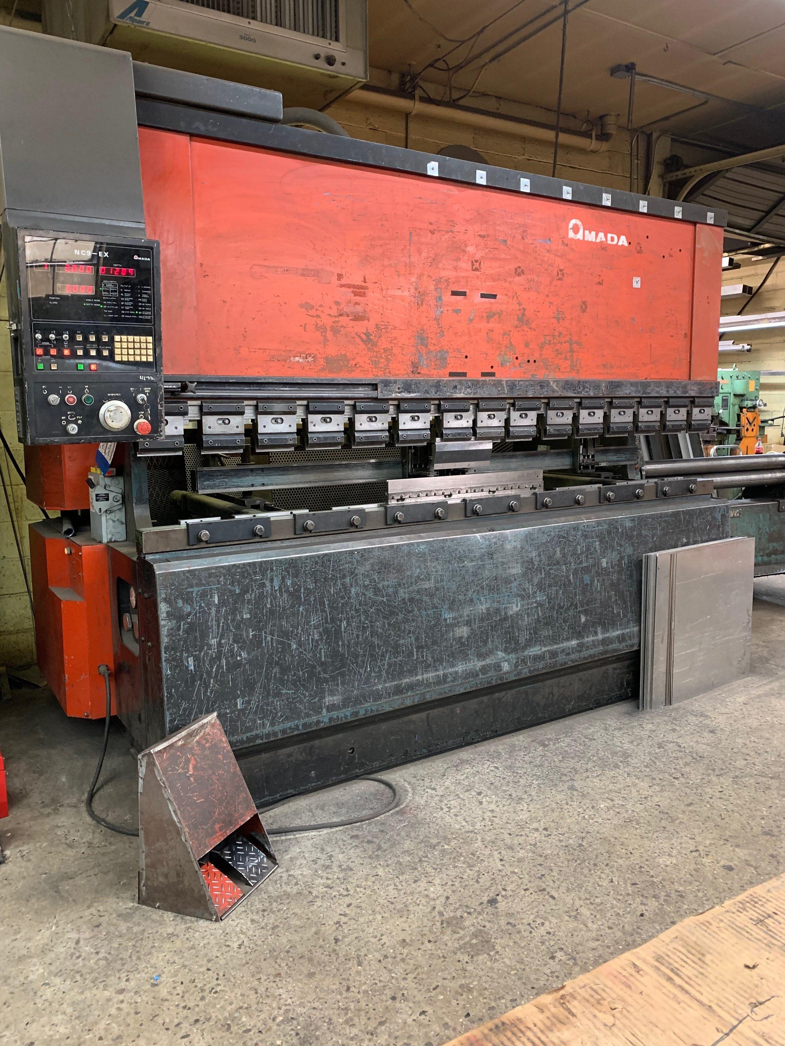 """Brake Press - Bends sheet metal up to 120"""" long"""