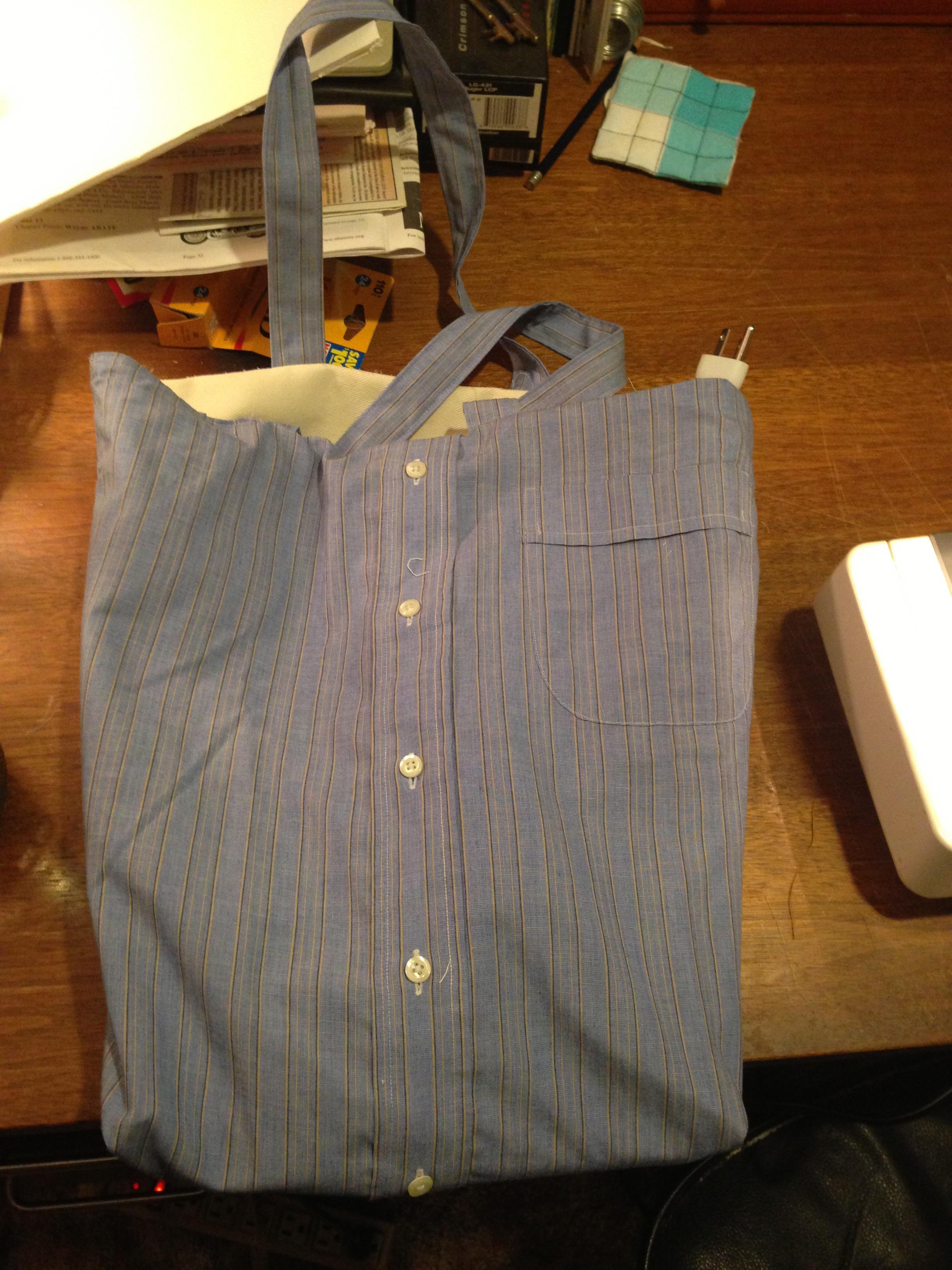 Upcycled Shirt Tote