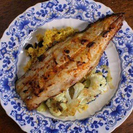 spanish mackerel with harissa and preserved lemon