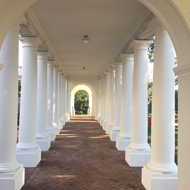 A quiet Saturday morning at the University of Virginia.