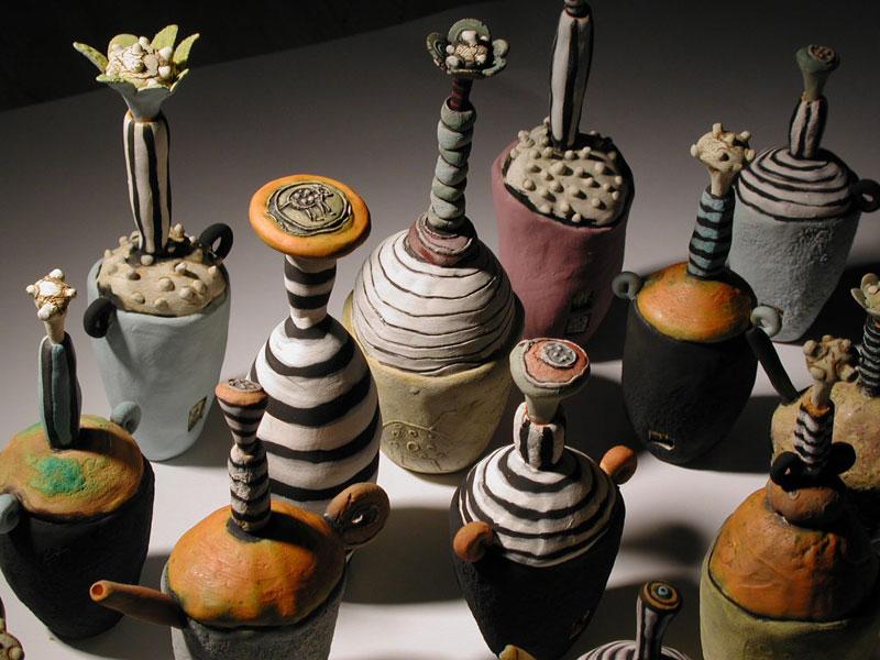 Assorted Bottle Sculptures