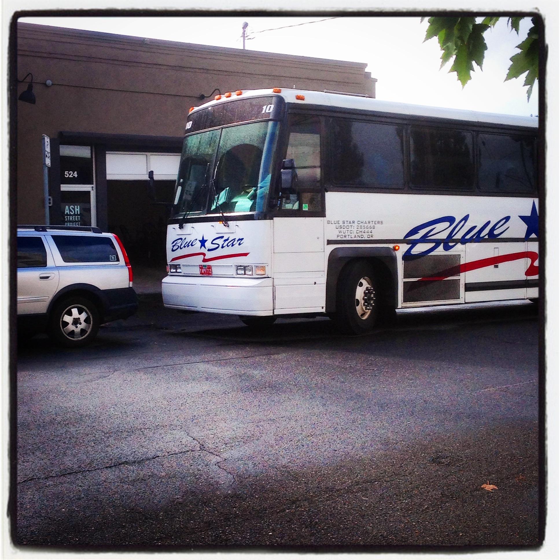 Bus Tour Stop at Ash Street Project