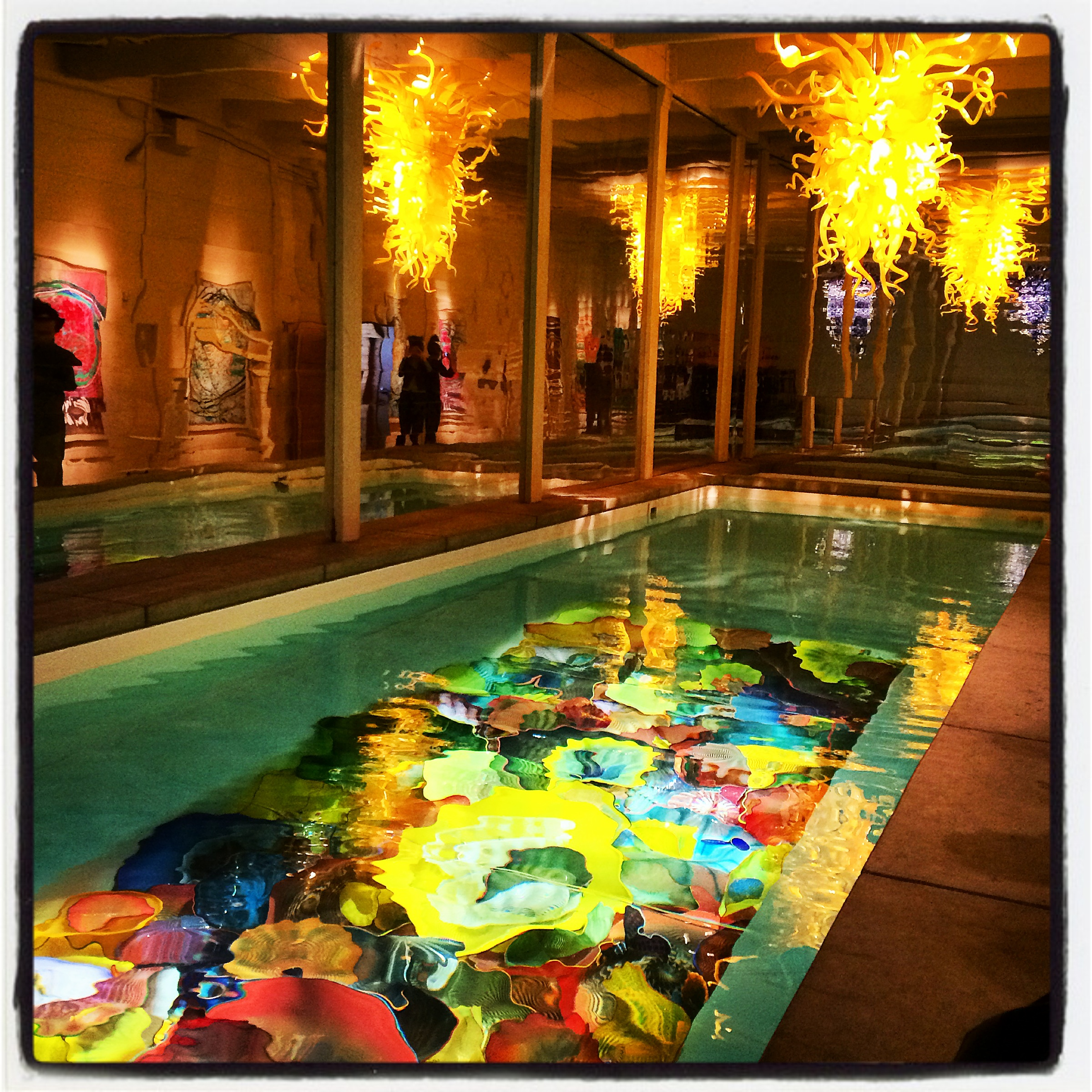 Chihuly Lap Pool at Boathouse